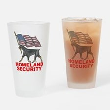 DOBERMAN HOMELAND SECURITY Drinking Glass