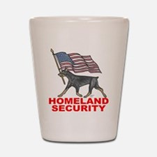 DOBERMAN HOMELAND SECURITY Shot Glass