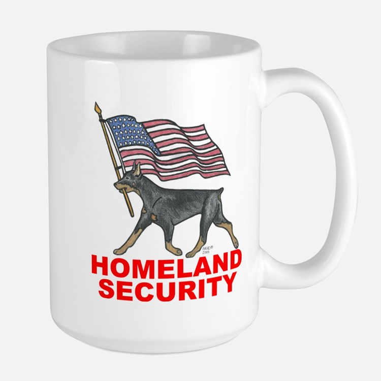 DOBERMAN HOMELAND SECURITY Mugs