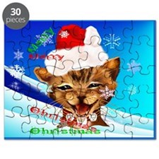 Christmas Ginger Kitty Puzzle
