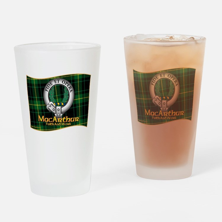 MacArthur Clan Drinking Glass