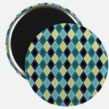 Blue and Yellow Argyle Magnet