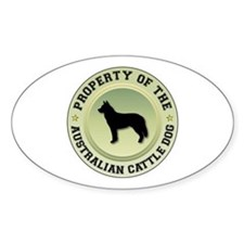 Cattle Dog Property Oval Decal
