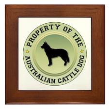 Cattle Dog Property Framed Tile