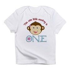 Adorable Little Monkey Girl 1st Birthday Infant T-