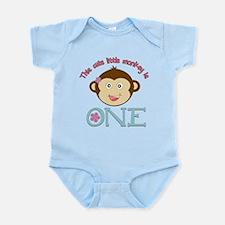 Adorable Little Monkey Girl 1st Birthday Infant Bo