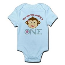 Adorable Little Monkey Girl 1st Birthday Onesie