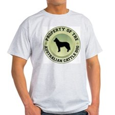 Cattle Dog Property Ash Grey T-Shirt