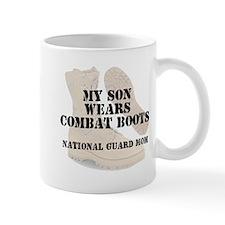 National Guard Mom Son wears DCB Mugs