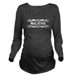 Tribal Malaysia Long Sleeve Maternity T-Shirt