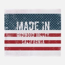 Made in Redwood Valley, California Throw Blanket