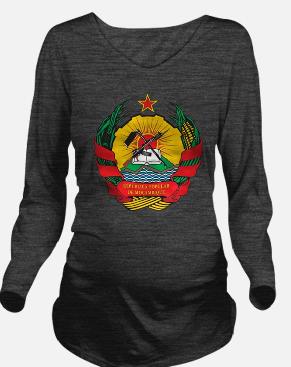Mozambique Coat Of Arms Long Sleeve Maternity T-Sh
