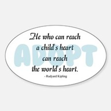 Foster Care and Adoption Sticker (Oval)