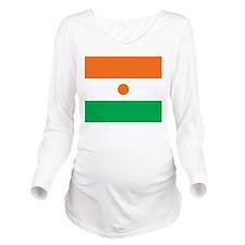 Niger Flag Long Sleeve Maternity T-Shirt