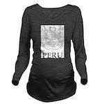 Vintage Peru Long Sleeve Maternity T-Shirt