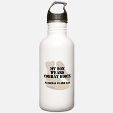 National Guard Dad Son wears DCB Water Bottle