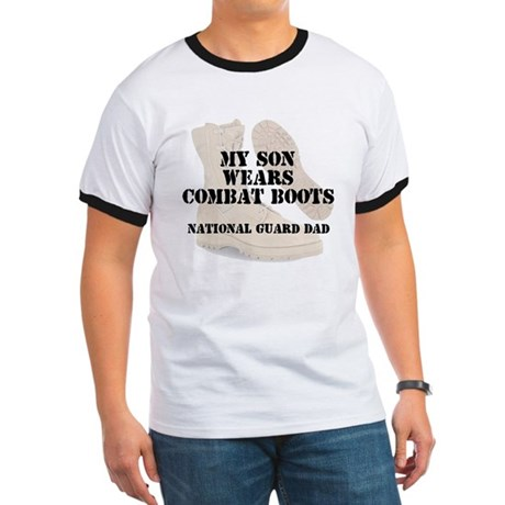 National Guard Dad Son wears DCB T-Shirt