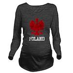 Vintage Poland Long Sleeve Maternity T-Shirt