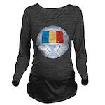 Romania Soccer Long Sleeve Maternity T-Shirt