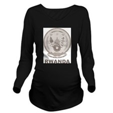 Stylish Rwanda Long Sleeve Maternity T-Shirt