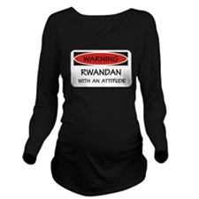 Attitude Rwandan Long Sleeve Maternity T-Shirt