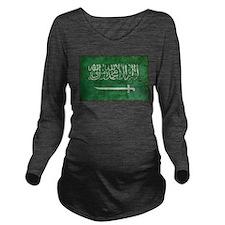 Vintage Saudi Arabia Long Sleeve Maternity T-Shirt