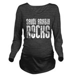 Saudi Arabia Rocks Long Sleeve Maternity T-Shirt