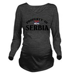 Property Of Serbia Long Sleeve Maternity T-Shirt