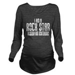 Rock Star In Serbia Long Sleeve Maternity T-Shirt