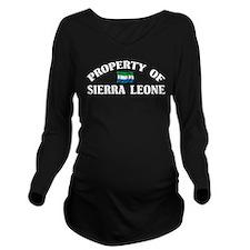 Cute Sierra leone Long Sleeve Maternity T-Shirt