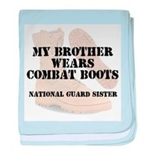 National Guard Sister Brother wears CB baby blanke