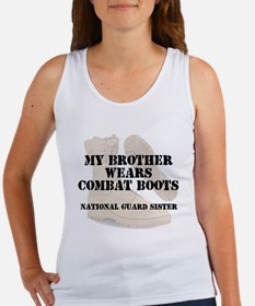 National Guard Sister Brother wears CB Tank Top