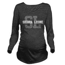 SL Sierra Leone Long Sleeve Maternity T-Shirt