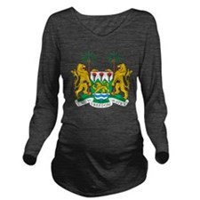 Sierra Leone Coat Of Arms Long Sleeve Maternity T-