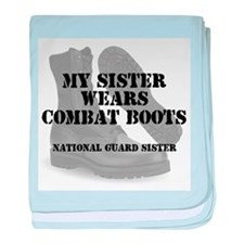 National Guard Sister wears CB baby blanket