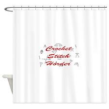Crochet Stitch Horder Shower Curtain