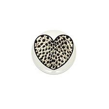 Cheetah Heart Love  Mini Button