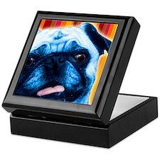 Striped Pug Keepsake Box