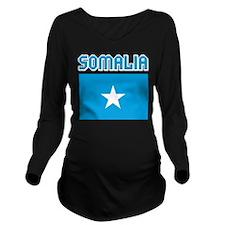 Somalia Flag Long Sleeve Maternity T-Shirt