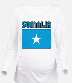 Somalia Flag Long Sleeve Maternity T-Shirt