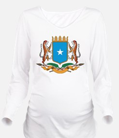 Somalia Coat Of Arms Long Sleeve Maternity T-Shirt