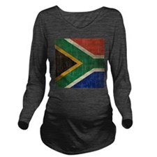 Vintage South Africa Flag Long Sleeve Maternity T-