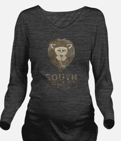 Vintage South Africa Long Sleeve Maternity T-Shirt