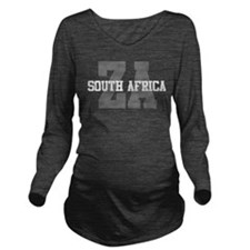 ZA South Africa Long Sleeve Maternity T-Shirt