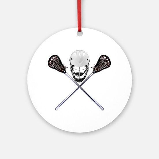 Lacrosse Pirate Ornament (Round)