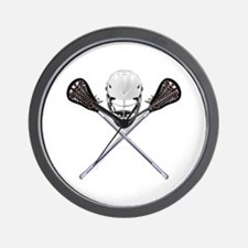 Lacrosse Pirate Wall Clock