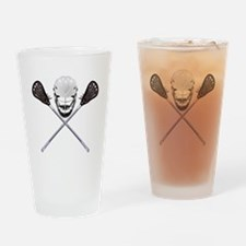 Lacrosse Pirate Drinking Glass