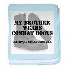 National Guard Brother wears CB baby blanket