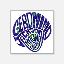 "GeronimoJackson02_10x10W Square Sticker 3"" x 3"""