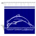 Dolphin Art Shower Curtain